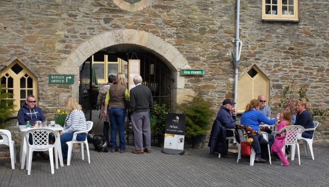 Tea Rooms in the courtyard at Caerhays