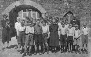 Evacuees at Caerhays