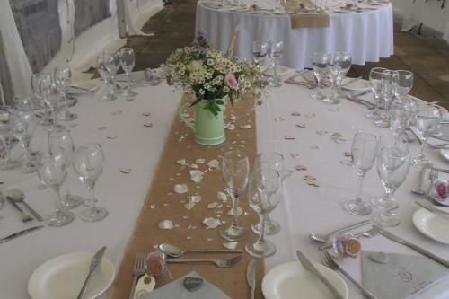 Reception table in marquee